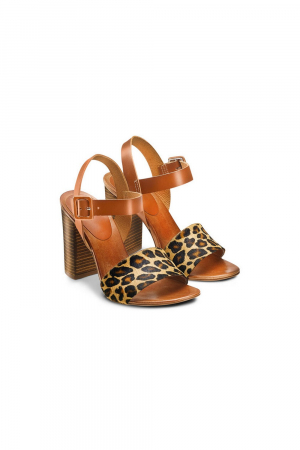 BATA. SANDAL WITH ANINALIER UPPER AND HIGH HEEL, COLOR.ANIMALIER