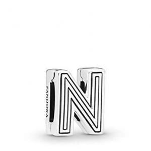 Pandora Reflexions letter N silver clip charm