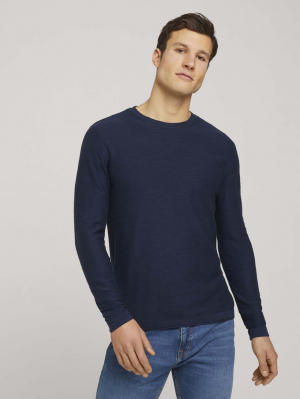 washed crew neck sweate, lucite green, L