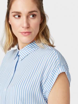 short sleeve b, stripe vertical blue, 38