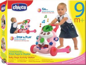 Ходунки-игровой центр Chicco Activity Walker 2в1 розовые