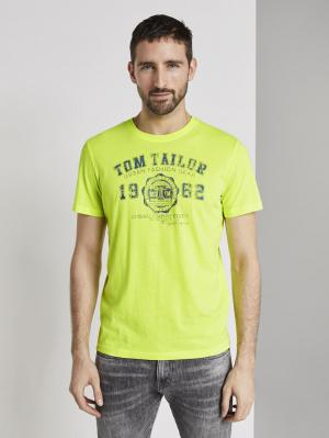 logo tee, bright neon yellow, S