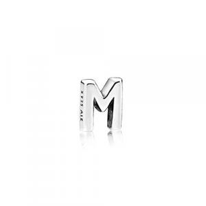 Letter M silver petite element