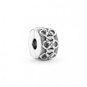 Flower sterling silver clip