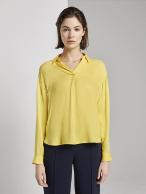 blouse  casual look, jasmine yellow, 38