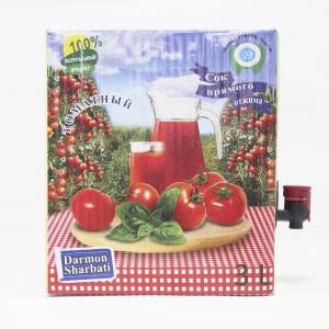Сок томатный пастеризованный 3л (Bag-in-Box),в картонной коробке