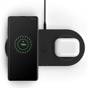 Belkin Wireless charging  Dual Pad Wireless Charging Qi, 2x 10W, black