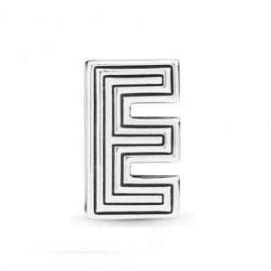 Pandora Reflexions letter E silver clip charm