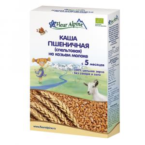 Каша Fleur Alpine пшеничная (спельтовая) на козьем молоке 200 гр