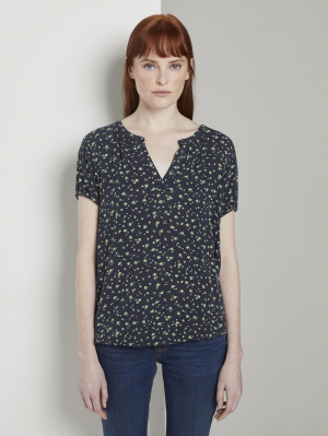 blouse, pink offwhite floral minimal, 38