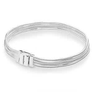 Pandora Reflexions multi snake chain silver bracelet