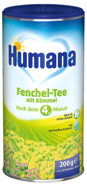 Humana чай с фенхелем и тмином 200 гр
