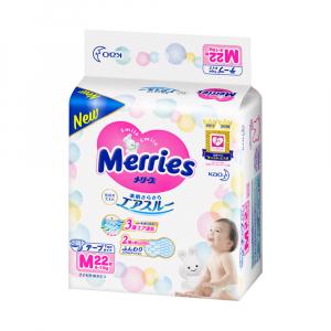 Подгузники для детей MERRIES размер М 6-11кг 22 шт