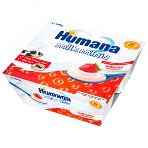 Йогурт Humana клубничный
