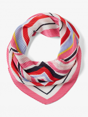 plissé stripe ban, carmine pink, OneSize