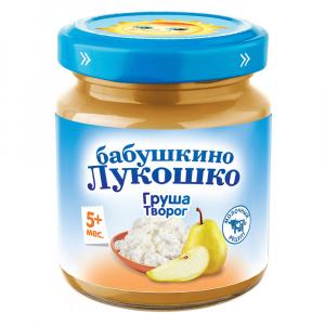 Пюре Бабушкино лукошко из груш с творогом 100 гр