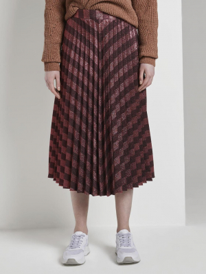 lurex plissee midi skirt, 24001, L