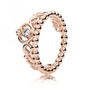 PANDORA Rose tiara ring with clear cubic zirconia