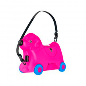 Детский чемодан на колесиках BIG (розовый)
