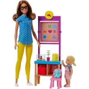 Набор игровой Barbie Кем быть Учитель Шатенка FJB30