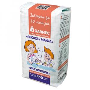 Рисовая манка Garnec Без глютена 450 гр