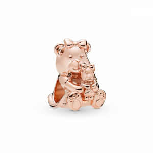 Mother and child teddy bear Pandora Rose charm