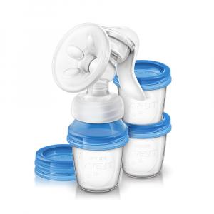 Молокоотсос ручной Philips Avent с контейнерами для хранения молока
