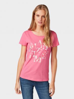 T-shirt basic front art, carmine pink, M