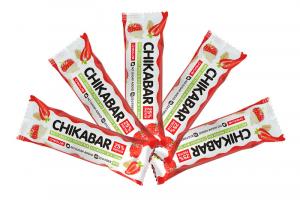 Chikabar батончик в белом шоколаде Клубника со сливками