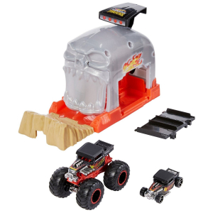 Машинка Hot Wheels Monster trucks Pit and Launch