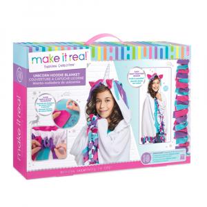 Набор игровой Make It Real Fashion Collection Unicorn Hoodie Blanket