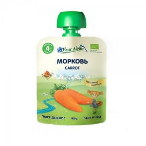 Fleur Alpine детское пюре Морковь с 4 месяцев 90г