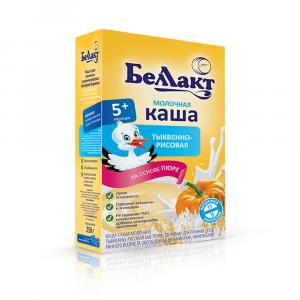 Каша Беллакт молочная тыквенно-рисовая 250 гр