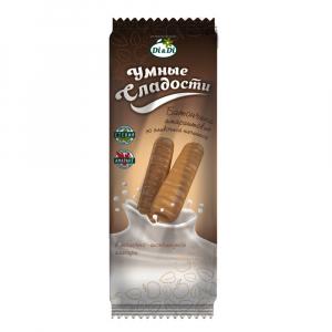 Батончики «Умные сладости» со сливочной начинкой в молочно-шоколадной глазури 20г