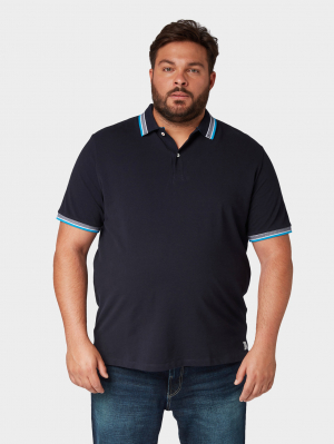 polo with wording, Knitted Navy, XXXXXL