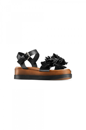 SANDAL          LEATHER/SUEDE    SYNTHETIC RU UNLINED