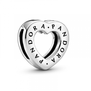 Heart sterling silver clip charm