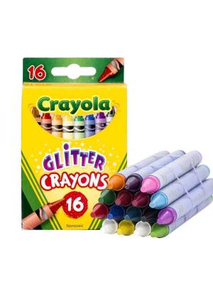 Мелки Crayola с Глиттером цветные