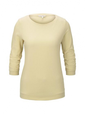 honeycomb pullover, pale yellow, XS