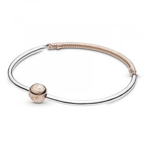 Pandora Rose and silver bangle