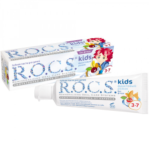 Зубная пастаРОКС для детей Фруктовый рожок (без фтора)45 гр