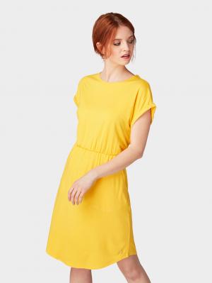 jersey mini dress, golden yellow, S