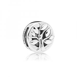 PANDORA Reflexions family tree silver clip charm