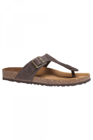 BATA. NUBUCK FUSBET THONG, BROWN COLOUR