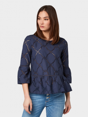 shiffly blouse, Real Navy Blue, 40