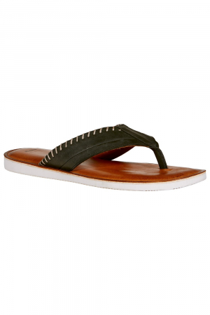BATA - MEN SANDAL - BLACK LEATHER UPPER