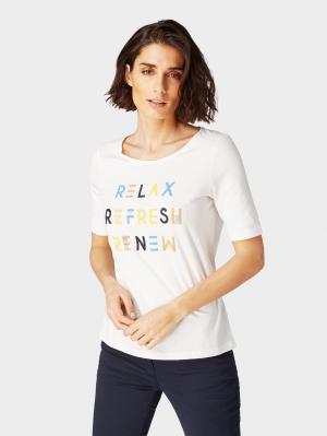 T-shirt frontprint, Whisper White, XXL