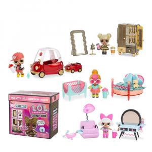L.O.L. Surprise doll w/ furniture packs 4 asst.CDU