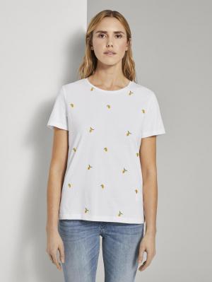 T-shirt front embroider, Deep Black, XXS