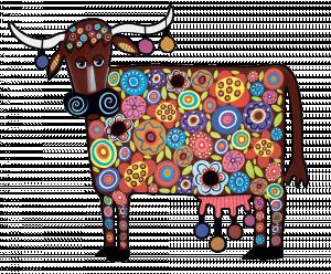 Мини-набор Радужная корова 121 деталей